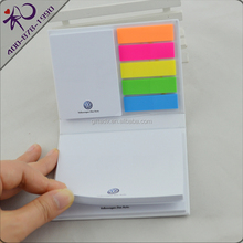 Shenzhen factory made high quality advertising hard cover sticky note pad for gift