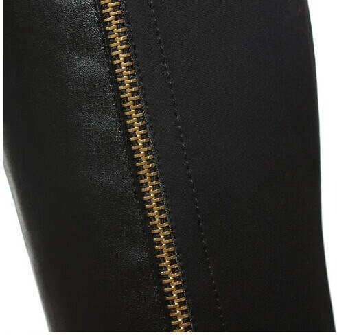 2013 Sexy Over Knee Boots Zipper Fashion Full Genuine Leather Winter