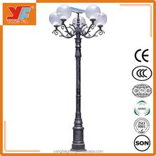 3-12m solar led garden light pole, excellent outdoor solar light for decoration, high lumen solar yard light
