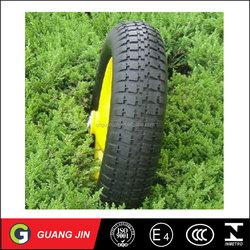 Alibaba Small Wheel Flat Free Caster Wheel Solid PU Foam Wheelbarrow Wheel 4.80/4.00-8