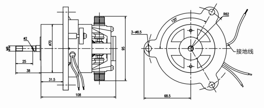 Working for Centrifugal Instrument Medical centrifugal motor 25W
