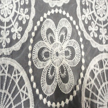 Hot selling 100%Polyester organza embroidery fabric organza fabric for woman's dress or garment