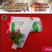 2015 good quality white candles wax cheap