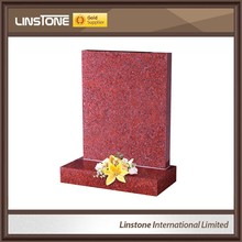India red shaping granite flat headstone polishing for sale