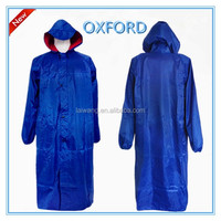 Hot sale adult Oxford material rain coat with long sleeves