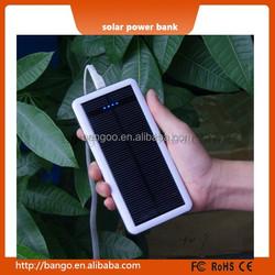 Portable power bank solar panel 10000mah solar power bank, shockproof power bank