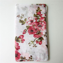 Sweet Girl Color Flower Scarf Shawl Women Voile Scarves Wraps