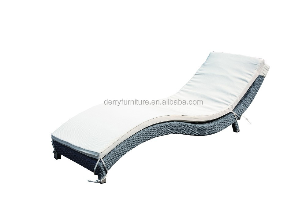 New s shaped rattan chaise lounge outdoor furniture for Cane chaise lounge furniture