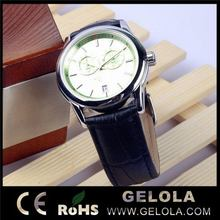 Fashionable best selling ladies leather strap watch for man ,hot sale alloy watch ,alloy men's watch promotional gift