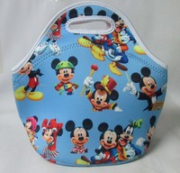 Printed wetsuit material lunch bag