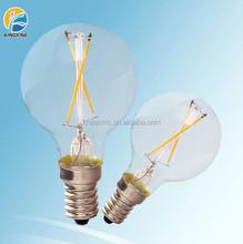 2015 alibaba trade assurance filament led bulb G45 3w E14 led lighting bulb COB-G4502E