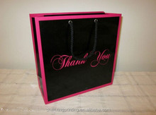 black pink thank you paper charity carrier party bag shopping gift bags