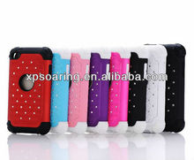 hybrid plastic silicone case cover for ipod touch 4