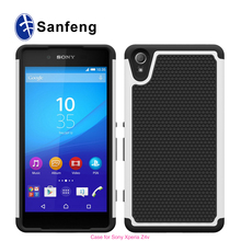 Popular phone accessories 10 colors Kickstand anti-scratch PC case cover for Sony Xperia Z4v