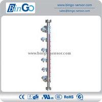 Multi-level control magnetic level gauge with large measuring range