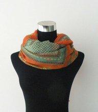 2012 fashion crinkle silk chiffon hair scarf