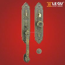European zinc alloy Keyed Mortise Lock Set Classic Round Bronze Knob