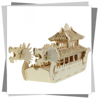 3D handmade assembling dragon boats /innovative puzzle