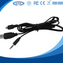 2015 best sell stereo 3. plug jack y wholesale high speed male to female car aux audio cable usb
