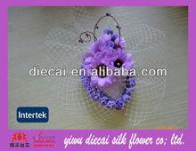 Purple sunflower bridal fascinator hair accessory