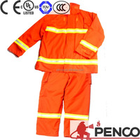 Original Fire Resistant 3M Reflective Nomex/Conex/Aramid EN469 Firefighter suit