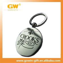 Wholesale custom promotional casting metal matt key chain