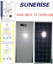 Factory direct sale PV panel 130W Poly home Solar Panel in China with low price