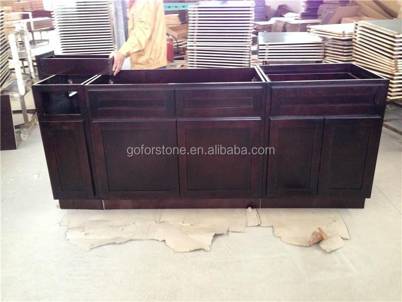 Popular estilo mueble cocina puertas de vidrio esmerilado cocinas ...