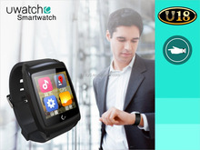 Uwatch U18 Smartwatch 1.6inch IPS Screen Dual-model Android 4.4 Chip Bt4.0 Stainless Steel Metal Tpu Material Sleep Monitor Stop