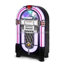 LED 7 colors light Jukebox retro with AM/FM/USB/CD player