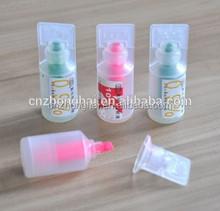 plastic drop bottle highlighter/vial highlighter/medicine bottle pen