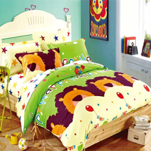 Queen size 100% reactive Cotton Kids Bedding Set wholesale with many cartoon designs