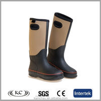 Fashion women's walking riding neoprene lined wellington boots