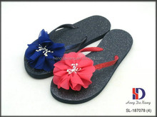Glitter and Floral PE Flip Flops