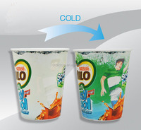 Fashion Doomed durance color changing drinking cup/plastic magic party mug