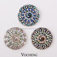 Wholesale Snap Buttons 20PCS/Lot with Crystal Ginger Snaps Jewelry (Vn-133*20) Free Shipping