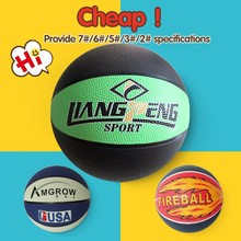 Official size and weight kids rubber basketball,colorful printing basketball