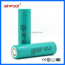 Samsung 20A 18650 20R INR18650-20R(M) 2000mah 3.6V,Samsung 20R