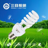 Small half spiral energy saver bulbs CFL 15W/6400K