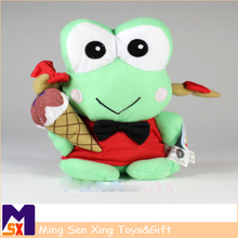 OEM service keroppi frog plush toy doll for christmas gifts