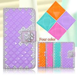 Full glitter rhinestone diamond crystal case for Motorola Moto Droid Maxx 2 bling pu leather wallet case