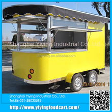 Steet vending machine food cart/trailer/van/kiosk, mobile fast bbq food cart