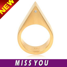 new trend triangle pointed USA brand ring for lady