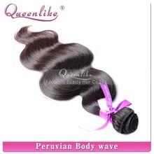 Hot Selling Factory Wholesale 6A top grade virgin unprocessed best peruvian hair weft