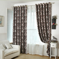 blackout European-style jacquard curtain fabric