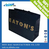 String handle paper bag Black paper bags with silver printing Embossed logo paper bags