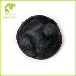 All Color Synthetic Hair donut, Hair bun with clip in style