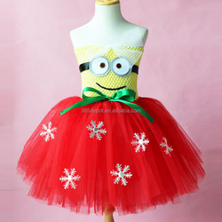 New Christmas Minion Tutu Dress 2 Eyes Despicable Me Birthday Party Outfit Minion christmas dress