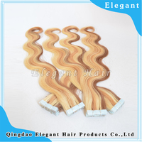 Wholesale virgin hair tape extensions body wave 26 inches tape human hair extensions