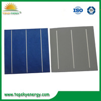 hot sale high efficiency 156x156mm 6inch 2BB/3BB mono/poly solar cells made in Taiwan/Germany